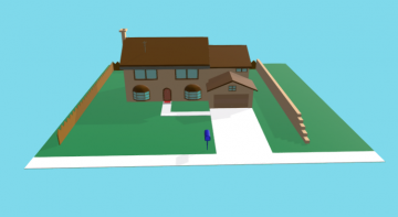Simpsons house 3D model