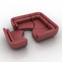 Sofa Puzzle 3d model