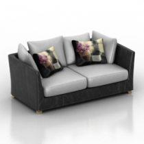 Sofa generic Pushe 3d model