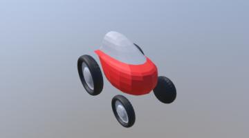 Space Car V2 3D model
