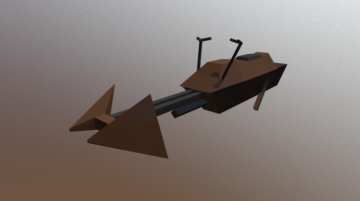 Star Wars Speeder Bike Lowpoly 3D model
