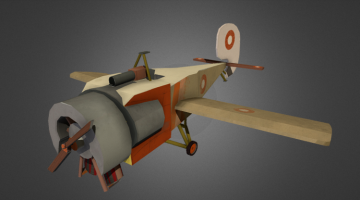Stylised Airplane 3D model
