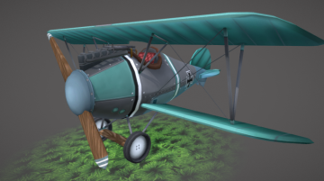 Stylized Albatros D.V.