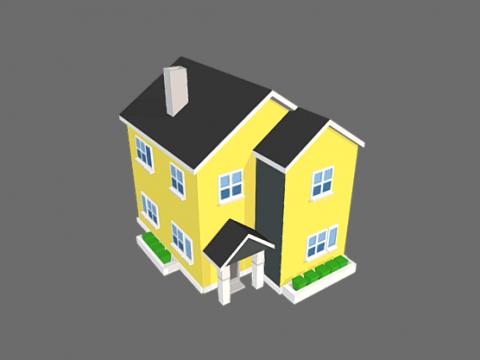 Suburb House 3D model