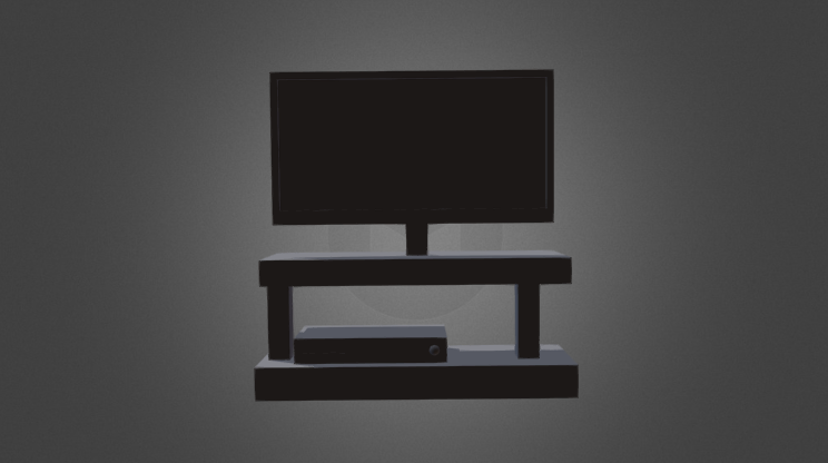 TV and gaming console 3D model