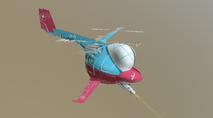 War Helicopter 3D model