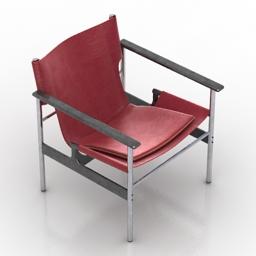 Armchair Pollock 3d model
