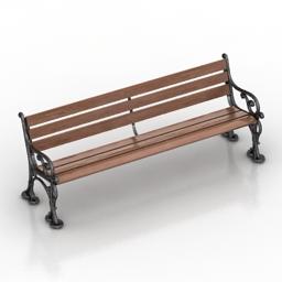 Bench Robers 3d model