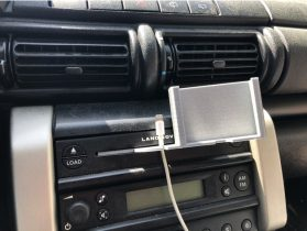 CD Car slot for Smartphone with cable support 3D model