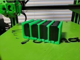 Canon LP-E6 Battery Holder (4 Pack) 3D model