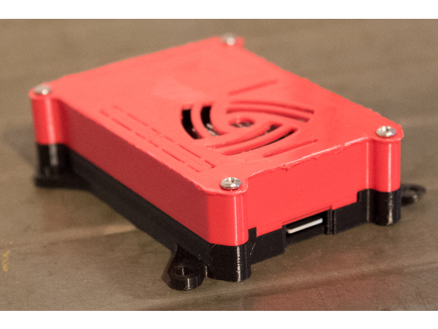 3D Case for Raspberry Pi 3 with Heat Sink model