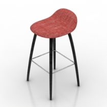 Chair bar free 3d model