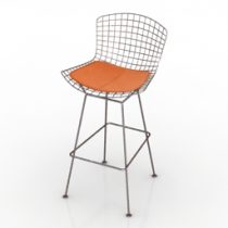 Chair bar Bertoia 3d model