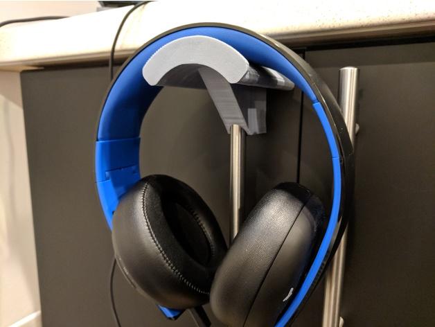Headphone Holder For Ikea Lansa Handle Free 3d Models