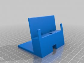 Phone stand with cable holder 3D model