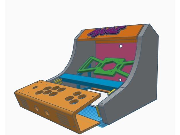 Brilliant Retropie Bartop Arcade Cabinet Downloadfree3D Com Download Free Architecture Designs Lukepmadebymaigaardcom