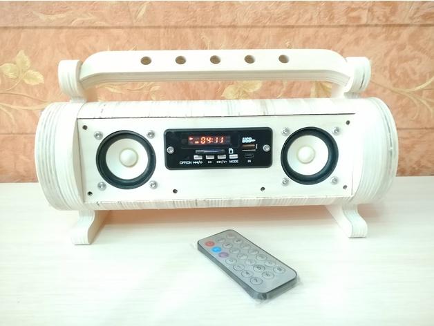 Small 5wx2 FM, SD+USB flash mp3 player 18560 3D model