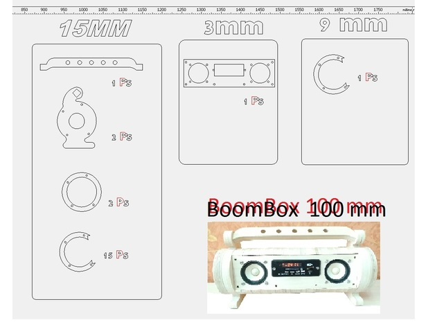 Small 5wx2 FM, SD+USB flash mp3 player 18560