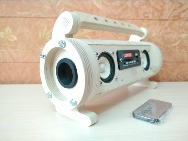 3D Small 5wx2 FM, SD+USB flash mp3 player 18560 model