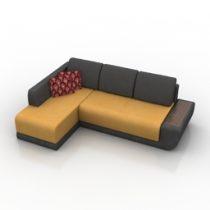 Sofa kosta Pushe 3d model download