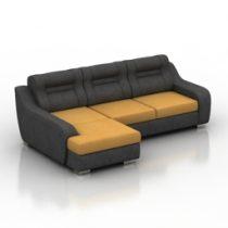 Sofa roise Pushe 3d model