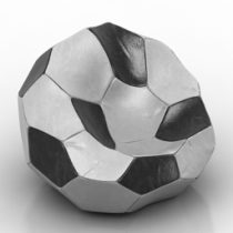 Armchair soccer 3d model