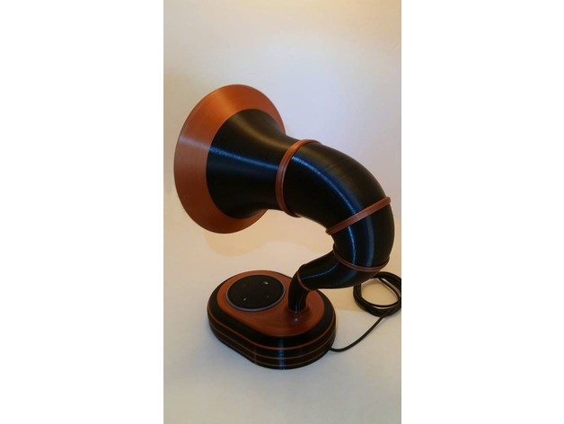 3D Alexa Echo Dot Gramophone model