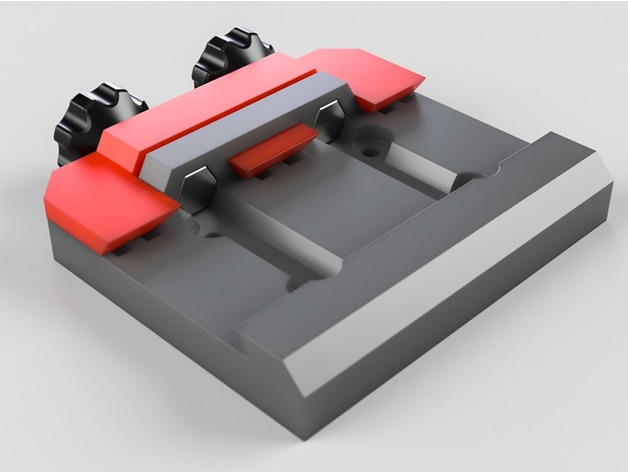 Arca Swiss camera plate clamp 3D model