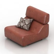 Armchair Blanche Ria 3d model