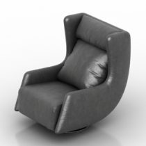 Armchair Blanche Tati 3d model
