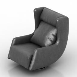 Armchair Blanche Tati 3d model