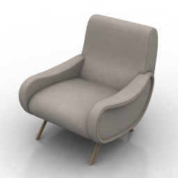 Armchair cassina_lady_720 3d model download