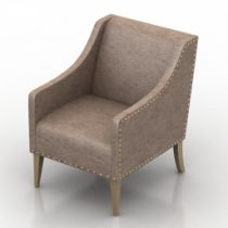 Armchair laiol-low Pushe 3d model