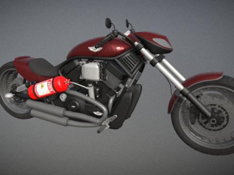 Harley 3D model