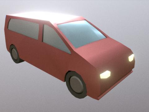 Low Poly Van 3D model