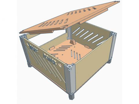 PC MINI-ITX CASE 3D model