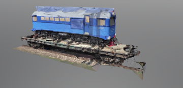 RZD TU2 class diesel locomotive 3D model