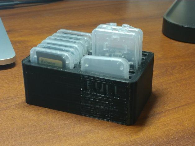 SD Card Case Holder 3D model