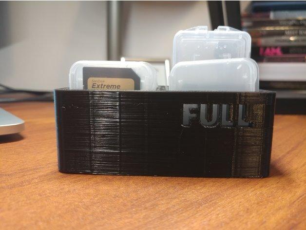 3D SD Card Case Holder model