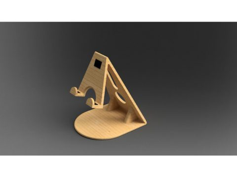 Smart Phone Wood Holder 3D model