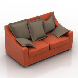 Sofa bushmil Pushe 3d model