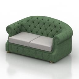 Sofa luis dls 3d model