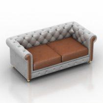 Sofa sheridance Pushe 3d model