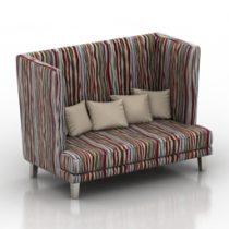 Sofa varadero Pushe 3d model