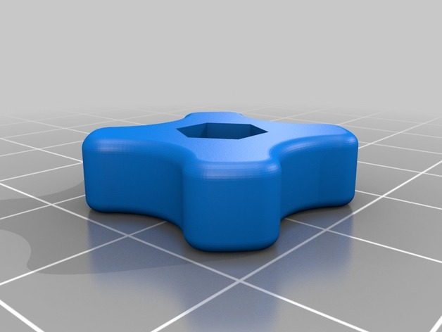 3D Thumbwheel for M4 bolt model