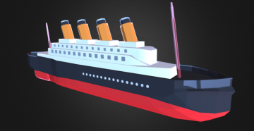 Titanic - Low poly 3D model