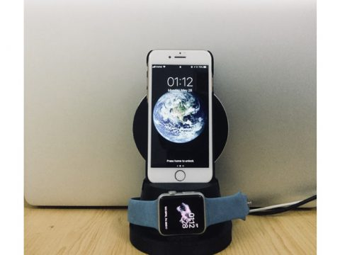 Wire / Wireless charging dock for iPhone and Apple Watch 3D model