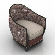 Armchair HG Deco Tub Chair Hollywood Glamour Timothy Oulton 3d model