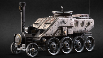 Armored Wagon 3D model