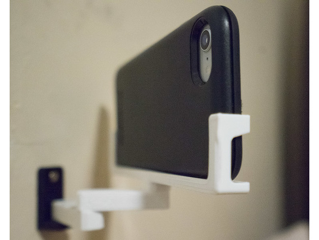 Articulated Phone Holder Wall Mounted Downloadfree3d Com